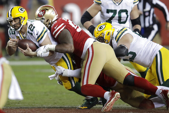 Packers look to rebound after rough loss at 49ers