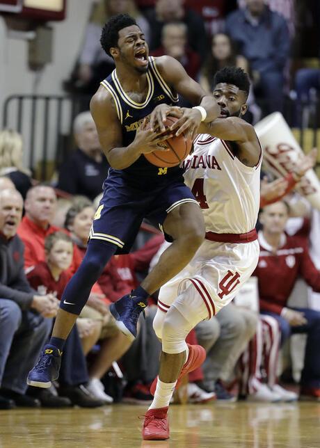 APTOPIX Michigan Indiana Basketball