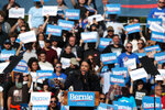 Rep. Alexandria Ocasio-Cortez, D-N.Y., speaks during a campaign rally for Democratic presidential candidate Sen. Bernie Sanders, I-Vt., on Saturday, Oct. 19, 2019 in New York. (AP Photo/Mary Altaffer)
