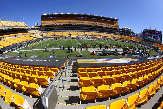 Heinz Field hosts an NFL football game between the Pittsburgh Steelers and the Denver Broncos in Pittsburgh, Sunday, Sept. 20, 2020. (AP Photo/Keith Srakocic)