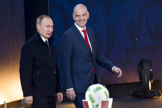 Vladimir Putin, Gianni Infantino