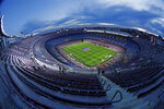 FILE In this Thursday, Jan. 30, 2020 a general view of the Camp Nou stadium prior of a Spanish Copa del Rey soccer match between Barcelona and Leganes at the Camp Nou stadium in Barcelona, Spain. (AP Photo/Joan Monfort, File)