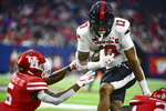 Texas Tech wide receiver Erik Ezukanma (13) runs with the ball against Houston during the first half of an NCAA college football game Saturday, Sept. 4, 2021, in Houston. (AP Photo/Justin Rex)