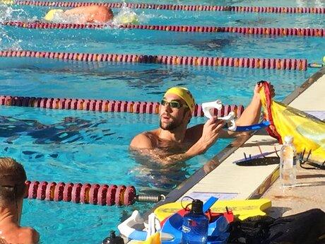 Phelps in the Desert Swimming
