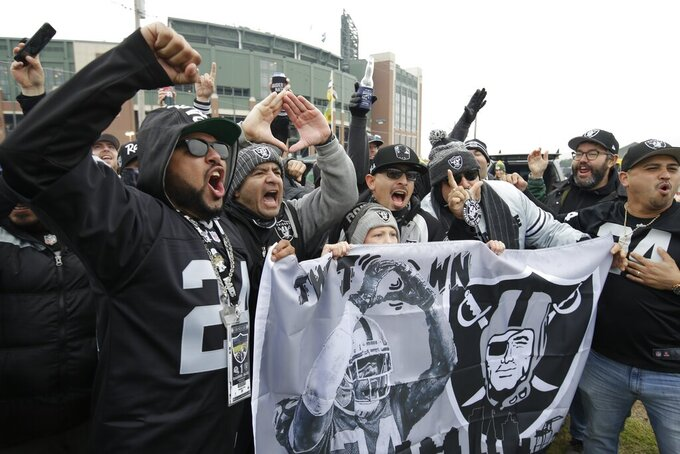 Oakland Raiders at Green Bay Packers 10/20/2019