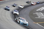 Noah Gragson (9) drives during NASCAR Xfinity Series auto race at Bristol Motor Speedway Monday, June 1, 2020, in Bristol, Tenn. (AP Photo/Mark Humphrey)