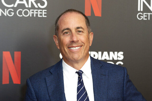 FILE - This July 17, 2019 file photo shows Jerry Seinfeld at the