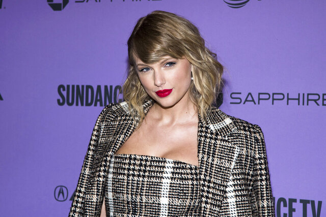 FILE - In a Jan. 23, 2020 file photo, Taylor Swift attends the premiere of