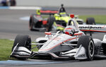 Will Power, of Australia, drives his car during the IndyCar Grand Prix auto race at Indianapolis Motor Speedway in Indianapolis, Saturday, May 12, 2018. (AP Photo/Darron Cummings)