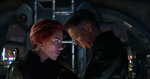 This image released by Disney shows Scarlett Johansson, left, and Jeremy Renner in a scene from