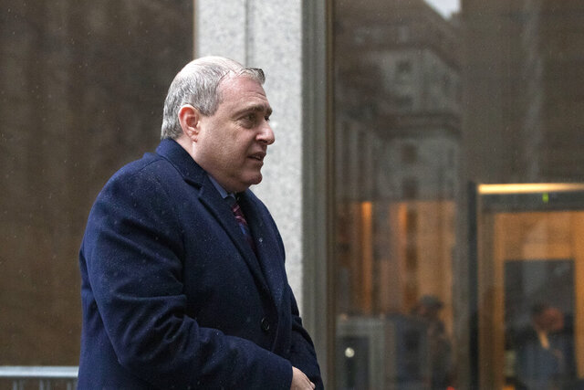 Lev Parnas, a Rudy Giuliani associate with ties to Ukraine, arrives for a bail hearing in federal court, Tuesday, Dec. 17, 2019 in New York. (AP Photo/Mark Lennihan)