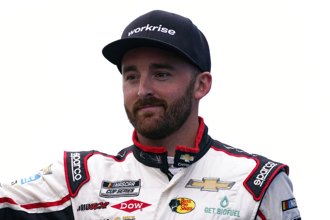Austin Dillon at a NASCAR Cup Series auto race, Sunday, July 18, 2021, in Loudon, N.H. (AP Photo/Charles Krupa)
