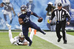 Tennessee Titans tight end Jonnu Smith (81) gets past New Orleans Saints free safety Marcus Williams (43) in the first half of an NFL football game Sunday, Dec. 22, 2019, in Nashville, Tenn. (AP Photo/James Kenney)