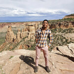 """This undated photo provided by David Robinson shows his son, Daniel Robinson, in Arizona. The 24-year-old geologist went missing from a field site outside of Phoenix in June 2021. The disappearance of Gabby Petito, a white 22-year-old woman who went missing in Wyoming in August during a cross-country trip with her boyfriend has brought new attention to a phenomena known as """"missing white woman syndrome."""" (Courtesy of David Robinson via AP)"""