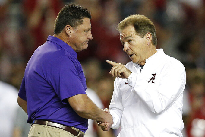 LSU's Orgeron says locker room comments were 'fiery moment'