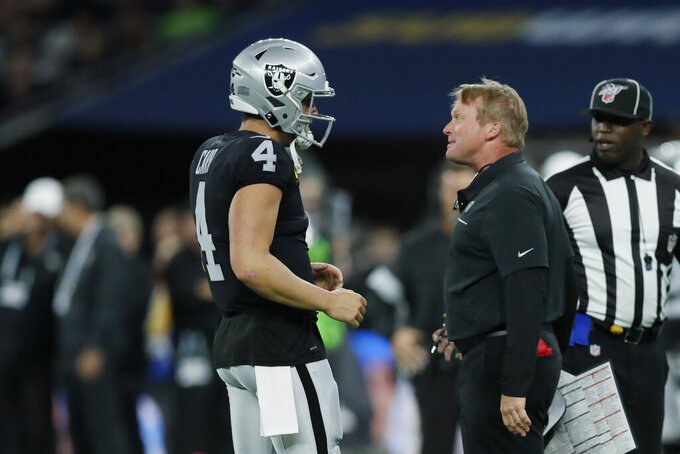 Raiders developing into contender in year 2 under Gruden