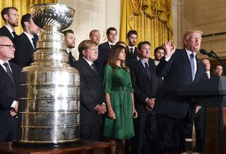 Trump Penguins Hockey