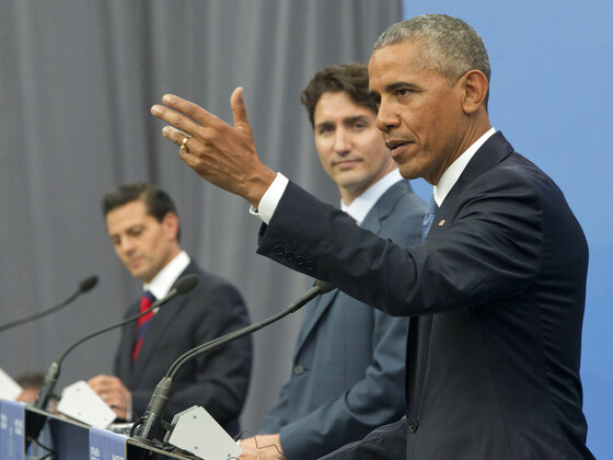 Barack Obama, Enrique Pena Nieto, Justin Trudeau