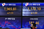 A currency trader walks by the screens showing the foreign exchange rates at the foreign exchange dealing room in Seoul, South Korea, Friday, Sept. 10, 2021. Shares were higher in Asia on Friday as investors stepped up buying despite another decline on Wall Street that kept the S&P 500 and the Nasdaq on track for their first weekly losses in three weeks.(AP Photo/Lee Jin-man)