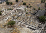 This 2013 aerial photo shows the site of the Al-Juma (Friday) Mosque in Tiberias, northern Israel. Archaeologists said recent excavations at the ancient city of Tiberias have discovered the remnants of one of the earliest mosques in the Islamic world. The foundations of the Muslim house of worship date to the late 7th century. (NTEP/ David Silverman and Yuval Nadel via AP)