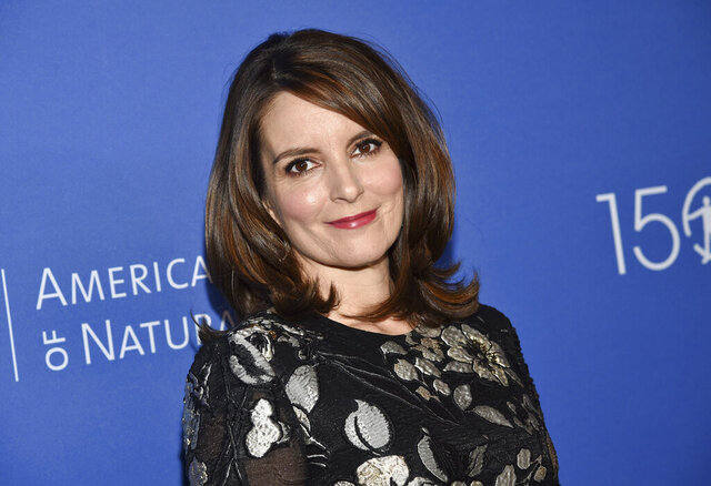 """FILE - In this Nov. 21, 2019, file photo, actress Tina Fey attends the American Museum of Natural History's 2019 Museum Gala in New York. Fey says more than $115 million was raised toward supporting New Yorkers impacted by COVID-19 during a virtual telethon. A tearful Fey said """"Thank you, thank you"""