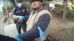 In this image taken from Alameda Police Department body camera video, Alameda Police Department officers attempt to take 26-year-old Mario Gonzalez into custody, April 19, 2021, in Alameda, Calif. The video goes on to show officers pinning Gonzalez to the ground during the arrest that ended in his death. (Alameda Police Department via AP)
