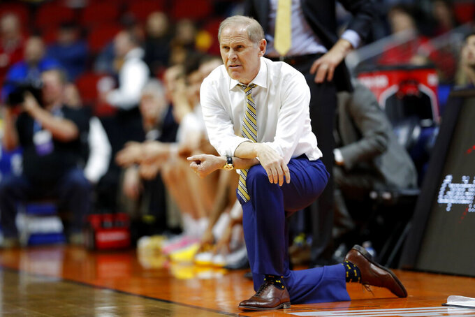 Michigan head coach John Beilein watches from the bench during a first round men's college basketball game against Montana in the NCAA Tournament, Thursday, March 21, 2019, in Des Moines, Iowa. (AP Photo/Charlie Neibergall)