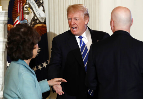 Donald Trump, Elaine Chao, Pete Ricketts,