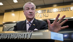 New Jersey Gov. Phil Murphy speaks during a press conference after lobbying for the Gateway Project before a Congressional delegation at Port Authority headquarters, Friday May 3, 2019, in New York. (AP Photo/Bebeto Matthews)