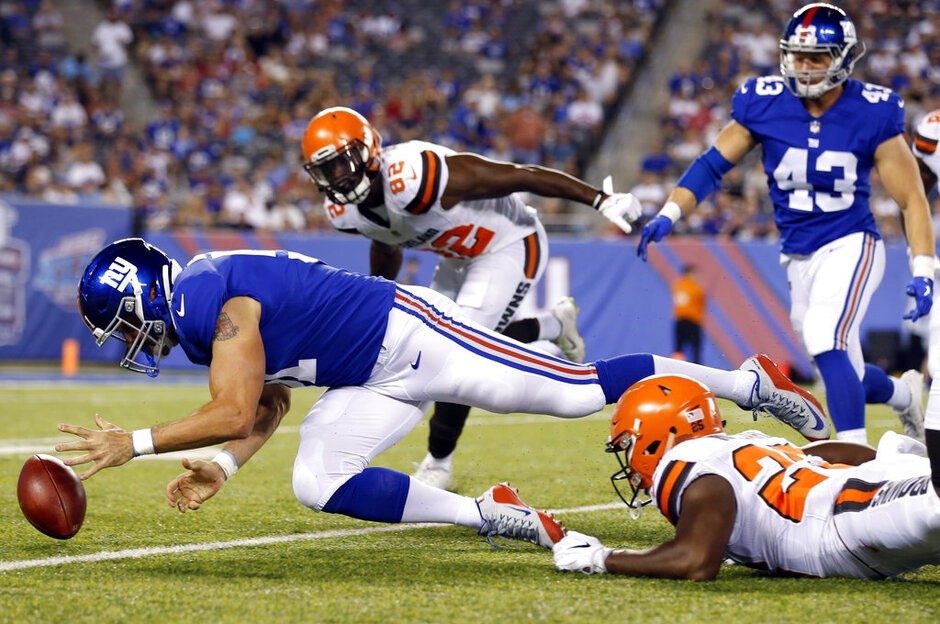 APTOPIX Browns Giants Football