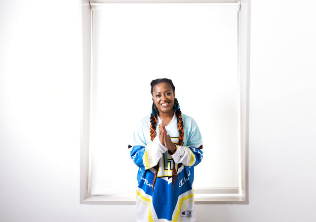 "FILE - This Aug. 22, 2019 photo shows Rapsody posing for a portrait in New York. Rapsody's ""Pray Momma Don't Cry"" is one of four songs featured on ""I Can't Breath/Music for the Movement,"" a four-song album that is a joint venture between Disney Music Group and The Undefeated, ESPN's platform for exploring the intersections of race, sports and culture. Rapsody is hoping the album can unite people.  (Photo by Brian Ach/Invision/AP, File)"