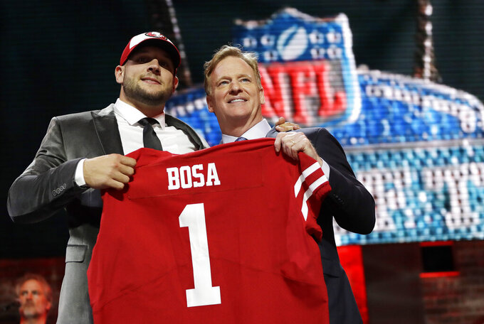 49ers look to Nick Bosa to boost anemic pass rush