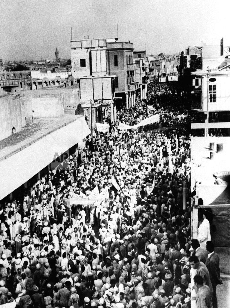 Watchf Associated Press International News   Iraq APHS114036 Iraq Anti Palestine Partition Protests 1937