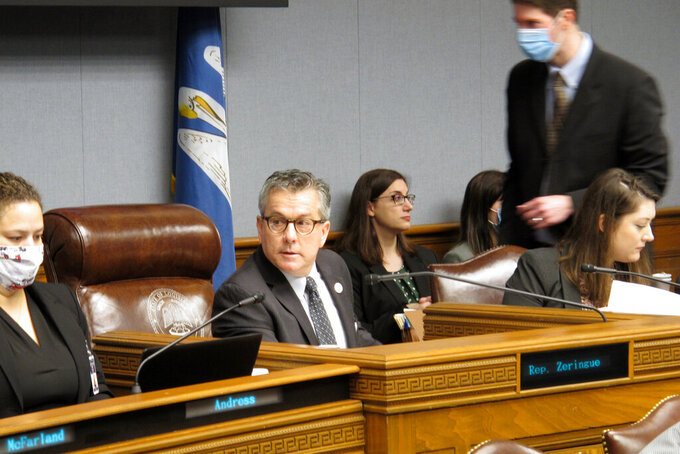 """House Appropriations Chairman Jerome """"Zee"""" Zeringue, R-Houma, speaks during a meeting of his committee, which unveiled its budget proposal for next year, on Monday, May 3, 2021, in Baton Rouge, La."""