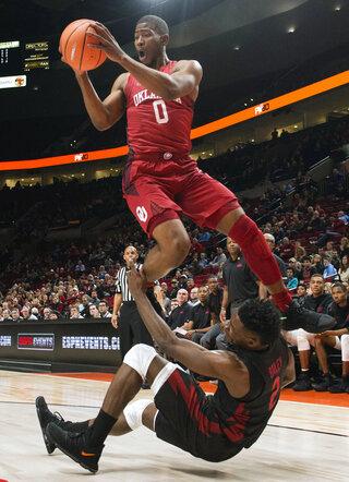 APTOPIX Arkansas Oklahoma Basketball