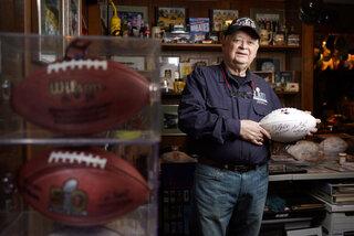 Don Crisman of Kennebunk has never missed a Super Bowl