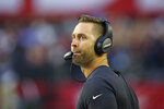 Arizona Cardinals head coach Kliff Kingsbury watches play during the first half of an NFL football game against the Los Angeles Rams, Sunday, Dec. 1, 2019, in Glendale, Ariz. (AP Photo/Ross D. Franklin)
