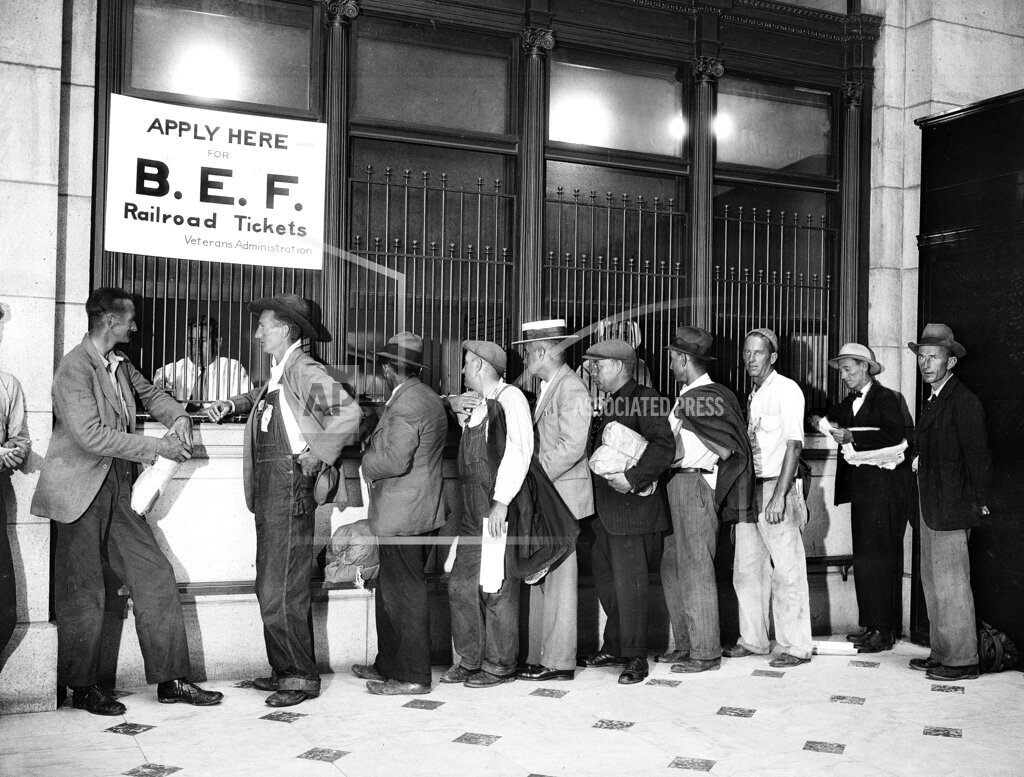 Watchf AP A  DC USA APHS126547 The Great Depression Bonus March