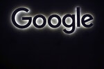 FILE - This Friday, June 16, 2017, file photo shows the Google logo at a gadgets show in Paris. Google won a major case in the European Union on Tuesday Sept. 24, 2019, when the bloc's top court ruled that the U.S. internet giant doesn't have to extend the EU's