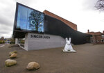 Exterior view of the Singer Museum in Laren, Netherlands, Monday March 30, 2020. Police are investigating a break-in at a Dutch art museum that is currently closed because of restrictions aimed at slowing the spread of the coronavirus, the museum and police said Monday. (AP Photo/Peter Dejong)