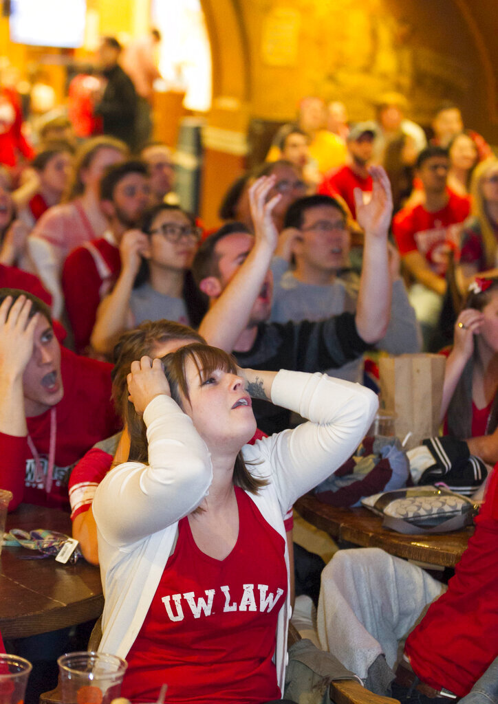 NCAA Championship Wisconsin Fans Basketball