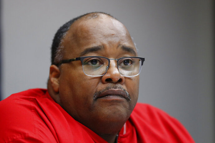 FILE - In this Nov. 6, 2019, file photo Rory Gamble, acting head of the United Auto Workers union answers questions in Southfield, Mich. Members of the United Auto Workers union's executive board have voted to appoint Gamble as its new president. (AP Photo/Paul Sancya, File)