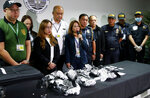 Bureau of Customs and airport authorities present to the media 8 kilograms of the illegal drug methamphetamine hydrochloride, locally known as