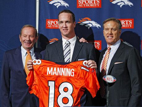 Peyton Manning, Pat Bowlin, John Elway
