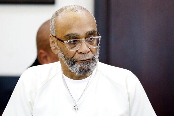 FILE - In this Aug. 28, 2019, file photo, death row inmate Abu-Ali Abdur'Rahman attends a hearing in Nashville, Tenn. Abdur'Rahman was scheduled to be executed in April, but last fall a judge resentenced him based on claims that prosecutors had illegally excluded African Americans from the jury pool. The attorney general appealed the resentencing, and the Tennessee Court of Criminal Appeals heard arguments Tuesday, June 29, 2020. (AP Photo/Mark Humphrey, File)