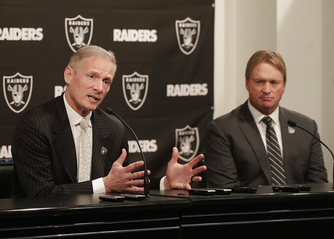 Mike Mayock takes center stage for 1st draft as Raiders GM