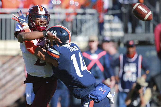 Perkins, late FG lift Virginia past No. 23 Hokies, 39-30