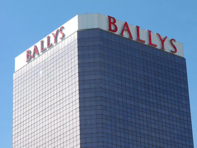 This Oct. 1, 2020, photo shows the exterior of Bally's casino in Atlantic City, N.J. On Nov. 4, 2020, officials with Twin River Worldwide Holdings, a Rhode Island firm that's buying Bally's for $25 million, said they can make it