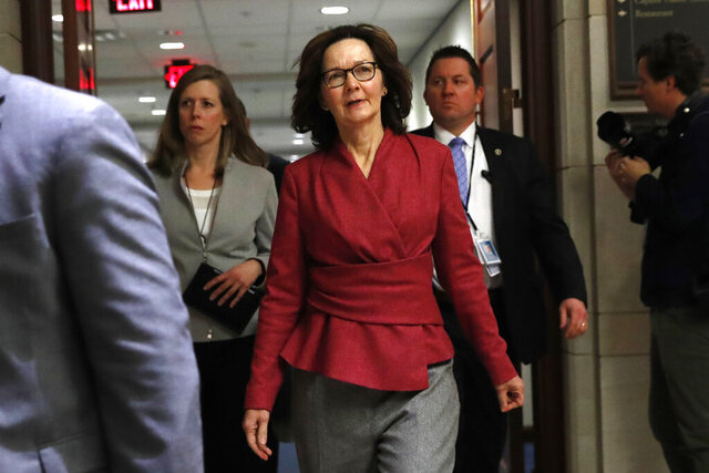 CIA Director Gina Haspel arrives to brief members of the Senate on the details of the threat that prompted the U.S. to kill Iranian  Gen. Qassem Soleimani in Iraq, Wednesday, Jan. 8, 2020 on Capitol Hill in Washington. (AP Photo/ Jacquelyn Martin)