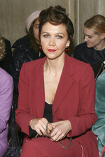 Maggie Gyllenhaal attends the NYFW Fall/Winter 2019 Kate Spade fashion show at the Cipriani's on Friday, Feb. 8, 2019, in New York. (Photo by Andy Kropa/Invision/AP)